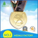 Médaille faite sur commande en métal de sport de souvenir de constructeur pour la vente en gros