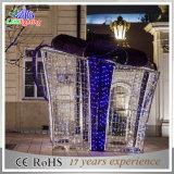 Indicatore luminoso esterno poco costoso di festa delle decorazioni di natale di motivo della casella