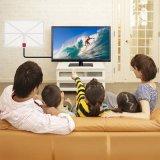 Weiße HDTV-Antenne mit Verstärker für Fernsehapparat-Gebrauch
