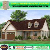 Casa prefabricada constructiva moderna de lujo y chalet de la estructura de acero