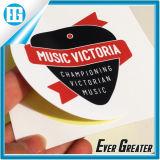 음악 빅토리아 백색 줄무늬 레이블 인쇄에는 자동 접착 스티커가 있다