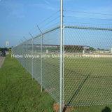 Galvanizado en caliente de malla de alambre de hierro Eslabón valla de seguridad