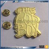 Chapado en oro y plata de 3D Metal malicioso conmemorar Badge
