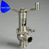 Санитарный Tri клапан сброса давления предохранительного клапана струбцины