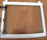O vidro Tempered da prateleira do refrigerador com PONTO, linha calcinou o teste padrão