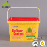4L Square Iml Printed pp Food Container con Handle e Lid