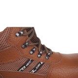 Suela de PU transpirable patinan en los zapatos de seguridad para los trabajadores