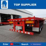 Vehículo del titán 40 pies carro plano del camión de 60 toneladas con el árbol 3