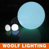 Plástico impermeable flotante LED colorido bola iluminadora