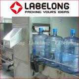 Frasco de 5 galões automática/20L linha de engarrafamento de água do canhão