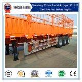 40t de Aanhangwagen van de Vrachtwagen van de Staak van de Vrachtwagen van de Lading van de omheining met 3 Assen voor het Vervoer van de Lading