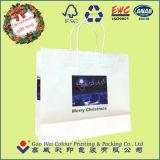 Напечатанный мешок подарка Kraft бумажный с бумажными ручками