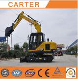 Excavador hidráulico caliente de la retroexcavadora de la correa eslabonada de las ventas CT85-8b (motor de Yanmar)