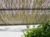 Diseño de bambú de la puerta de jardín de la cerca