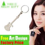 Cromo de encargo plateado metal Keychain del oro para el regalo del recuerdo