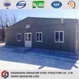Construction ignifuge préfabriquée d'usine de panneau d'isolation de bâti en acier