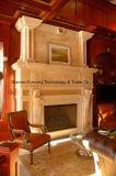 Hete Verkopende Witte Marmeren Open haard Van uitstekende kwaliteit