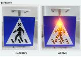 A segurança rodoviária de alumínio LED solares sinal tráfego pedestre