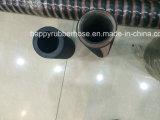 Boyau hydraulique en caoutchouc à haute pression flexible de spirale du fil d'acier six