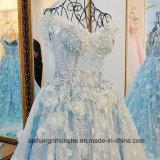 Vestido de casamento colorido de primeira qualidade luxuoso novo da flor do laço