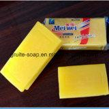 白く、黄色の下着の洗浄の洗濯洗剤の石鹸