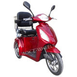 Scooter électrique handicapé de mobilité de 3 roues avec des selles de Deluxed