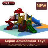 Outdoor Plastic Playground Swing & Slide for School (X1503-8)