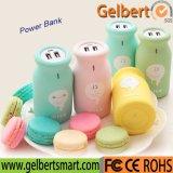 Banco portátil da potência do carregador 10000mAh de RoHS do frasco de leite do dispositivo para o telefone