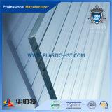 Hoja de acrílico transparente de PMMA con rosca en el material de construcción
