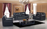 Sofá do couro genuíno (3+2+1) com jogo superior do sofá das vendas