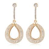 Dubai últimas joyas de oro de la moda de aleación de Gota cuelgue pendientes