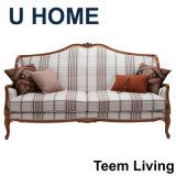 2016 nuovo sofà domestico del salone del sofà di stile della Francia del sofà di legno solido del sofà H323 del cuoio del fabbricato di stile del sofà U Franch dell'accumulazione