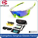 2015 Nouvelle conception de l'activité de plein air le sport cycliste lunettes de soleil incassable 3 lentille interchangeable