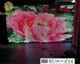 En el interior de la luz de la etapa P5cm visión telón de fondo LED LED CORTINA cortina de vídeo para eventos