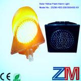 Indicatore luminoso d'avvertimento infiammante giallo alimentato solare senza fili di traffico del LED