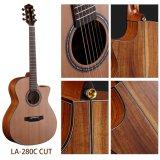 Estilo típico Stika guitarra de acero posterior y lateral de Koa superior Spruce del GA de la cadena