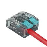 2P du connecteur de fil rapide exploité avec le levier 4,0 mm2 Connecteurs de raccord