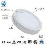 Hot Sale Ampoule de LED Aluminium surface ronde Panellight LED 6W AVEC CE RoHS