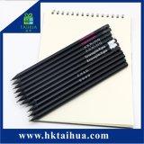 Alta Quanlity Hotel lápis preto lápis de madeira com o logotipo personalizado