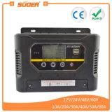 Controlador solar manual da carga de Suoer 48V 10A PWM auto para os sistemas solares Home (ST-W4810)