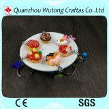 Postes avec du charme mignons de cadeaux de trousseau de clés de gâteau de résine de dessert de vente chaude