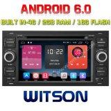Reproductor de DVD del coche del androide 6.0 de la Patio-Memoria de Witson para el RAM Bulit de Ford Focus 2g en la ROM de 4G 16GB