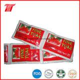 70g de Tomatenpuree van het sachet en de Tomatenpuree van de Zak