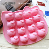 Hello Kitty Cat Food moules en caoutchouc de silicone de forme