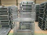 Treillis Soudés cage de stockage pliable avec les roues pour la logistique