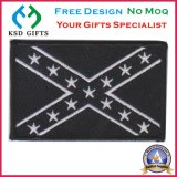 마술 테이프 위에 뒤를 가진 대중적인 깃발 100% 수를 놓은 주문 패치