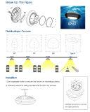 80W l'alto indicatore luminoso IP67 di ginnastica della drogheria della baia del UFO LED impermeabilizza 90&deg senza polvere;