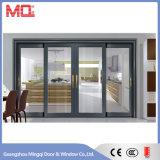 Puerta deslizante de aluminio decorativa interior