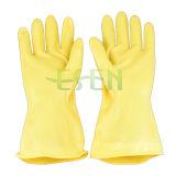Желтая электрическая резиновый перчатка/перчатка резиновый перчатки электрическая упорная