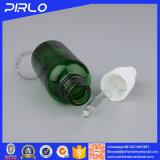 Bottiglia di vetro vuota di colore verde di uso dell'olio essenziale con la protezione del contagoccia